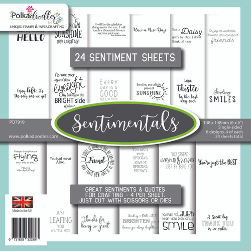 """Sentimentals 6 x 6"""" paper pack"""