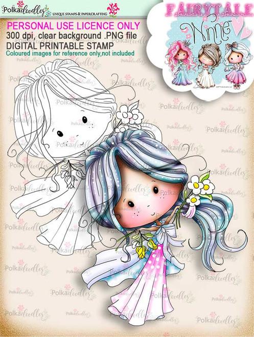 Winnie Fairytale Happy digi stamp download
