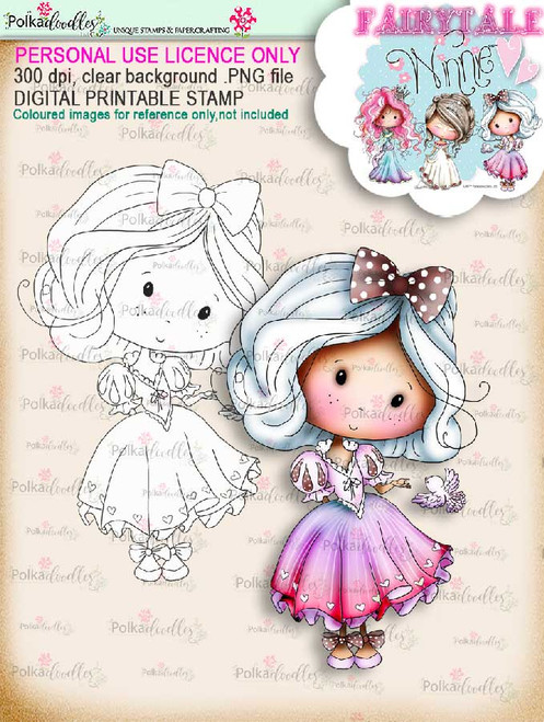 Winnie Fairytale Little Friends digi stamp download