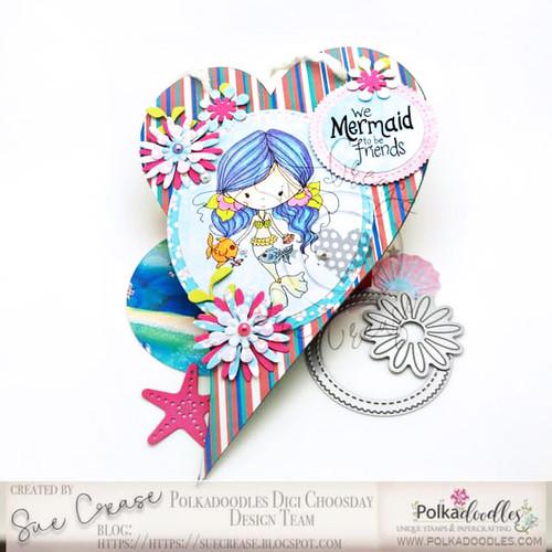 Winnie Mermaid Mermazing - Kisses digital stamp download