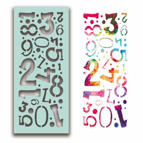 Number Collage Stencil