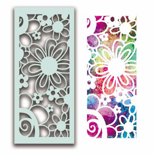 Flower Collage Stencil
