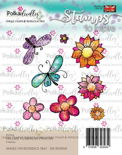 Flowers/Butterflies - clear stamp set