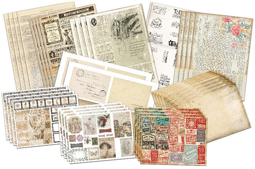Vintage Journal & Ephemera Paper Collection
