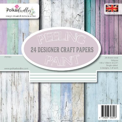 "Peeling Paint 6 x 6"" paper pack"