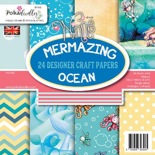 """Mermazing Ocean 6 x 6"""" paper pack"""