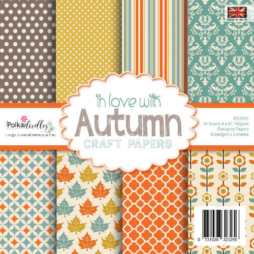 """in love with AUTUMN 6 x 6"""" paper pack"""