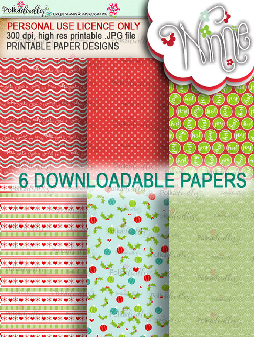 Papers 1 - Winnie Christmas Wishes digi scrap printable download