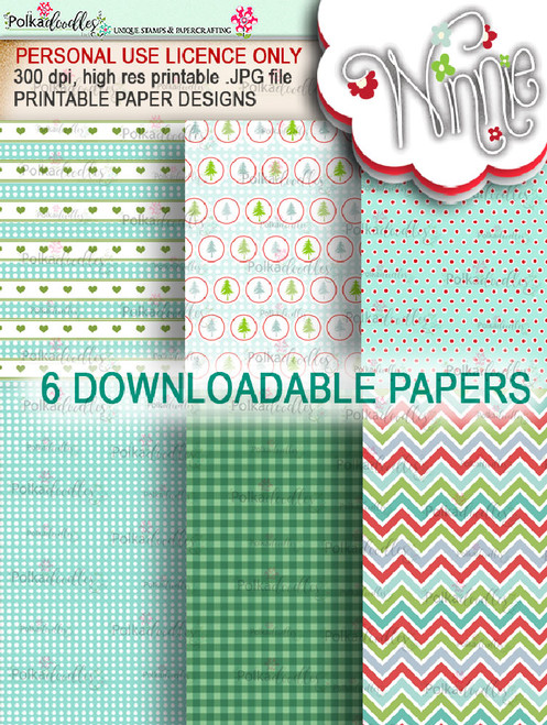 Papers 2 - Winnie Christmas Wishes digi scrap printable download