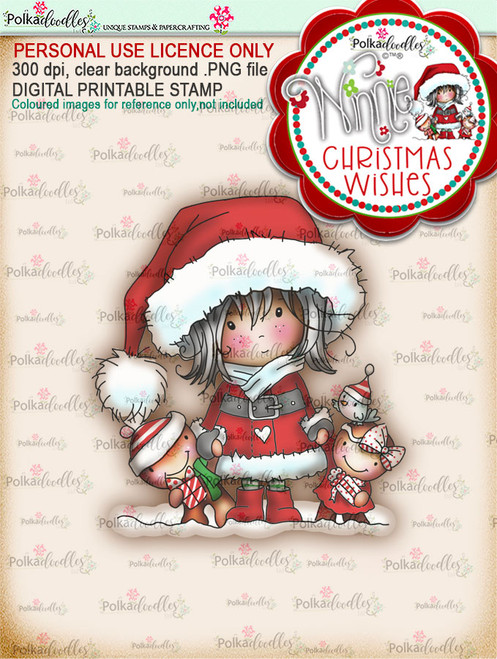 Delivery Time (colour) - Winnie Christmas Wishes digi scrap printable download