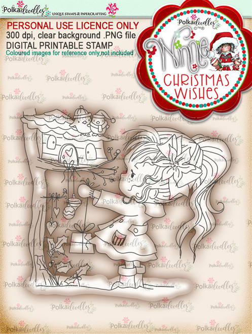 Just For You - Winnie Christmas Wishes digi scrap printable download