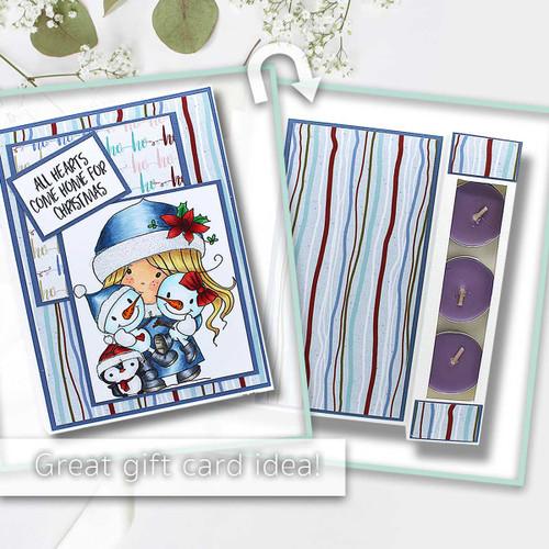 Friendly Cuddle - Winnie Christmas Wishes digi scrap printable download