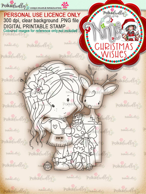 All Wrapped Up - Winnie Christmas Wishes digi scrap printable download