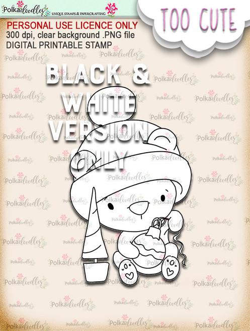 Bella Bear Bauble - Too Cute digital papercrafting download