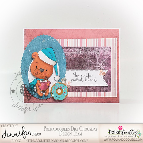 Bella Bear Hot Chocolate - Too Cute digital papercrafting download