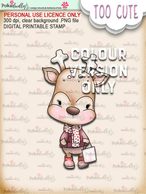 Dazzle Shopping - Coloured - Too Cute digital papercrafting download