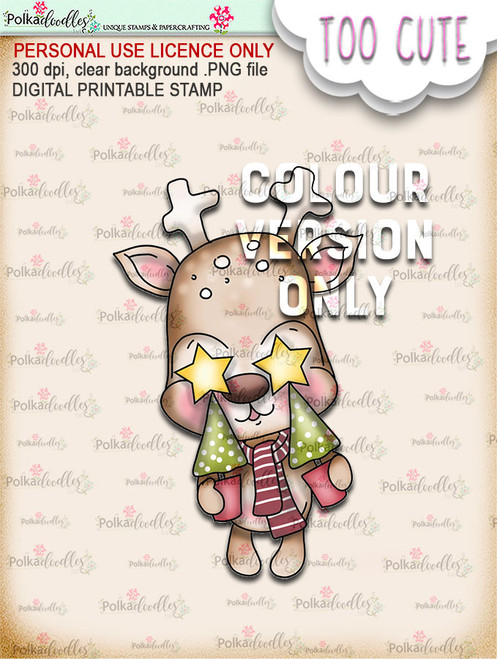 Dazzle Trees - Coloured - Too Cute digital papercrafting download