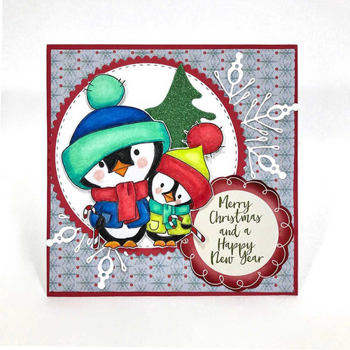 Penguin Candy Canes -  Too Cute digital papercrafting download