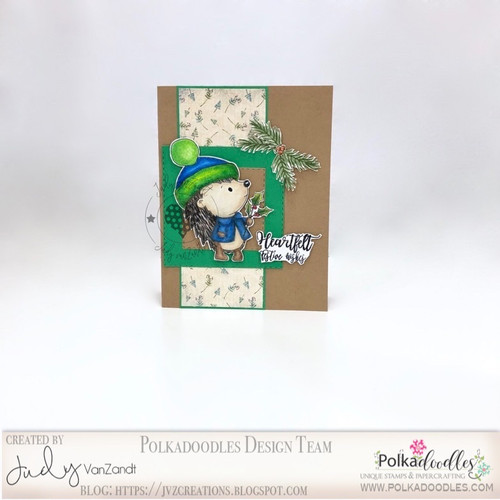 Holly Hedgehog - Too Cute digital papercrafting download