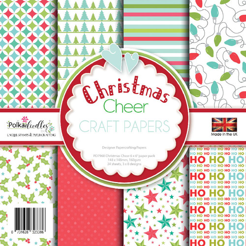 """Christmas cheer 6 x 6"""" paper pack (PD7968)"""