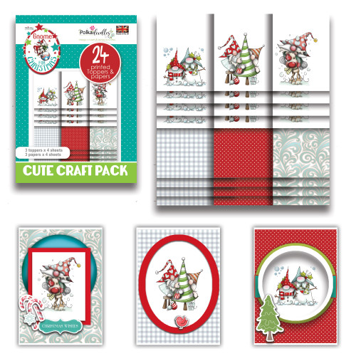 Gnome for Christmas - Cute Craft Topper Pack (PD7980)
