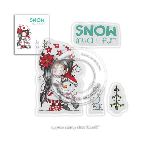 Snow Much Fun -  Winnie Winter Wishes - CLEAR POLYMER STAMP