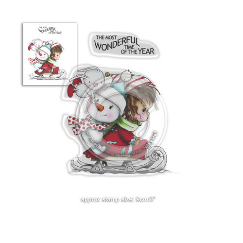 Wonderful Time -  Winnie Winter Wishes - CLEAR POLYMER STAMP
