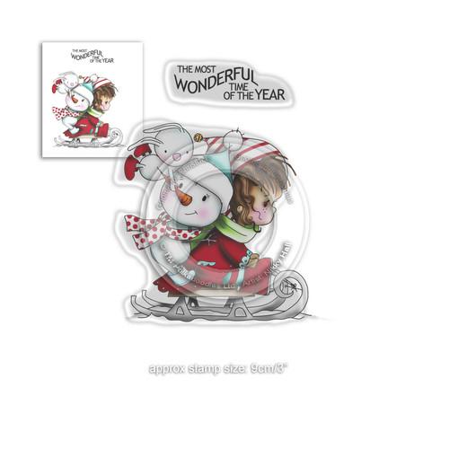 Wonderful Time -  Winnie Winter Wishes - CLEAR POLYMER STAMP