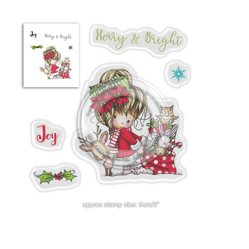 Merry & Bright -  Winnie Winter Wishes - CLEAR POLYMER STAMP
