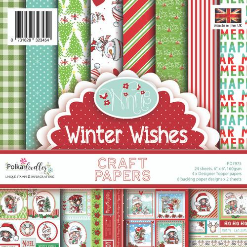 """Winnie Winter Wishes 6 x 6"""" Paper pack"""