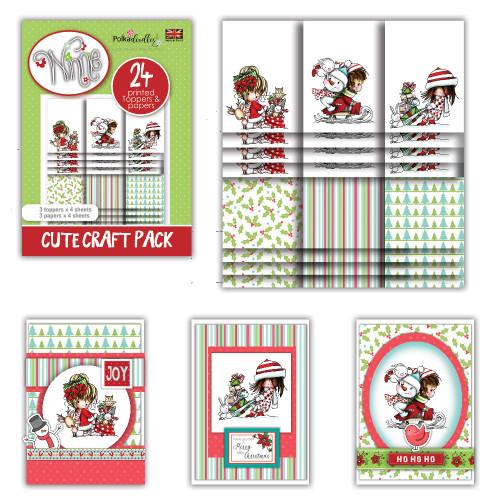 Winnie Winter Wishes - Cute Craft Topper Pack