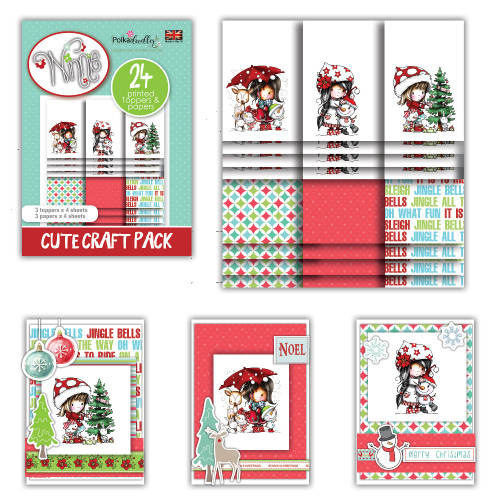 Winnie Winter Friends - Cute Craft Topper Pack
