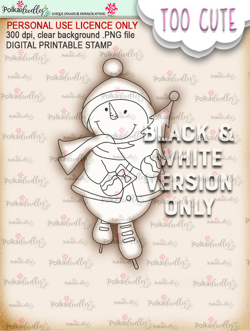 Frosty the Snowman Tree time - Too Cute digital papercrafting download