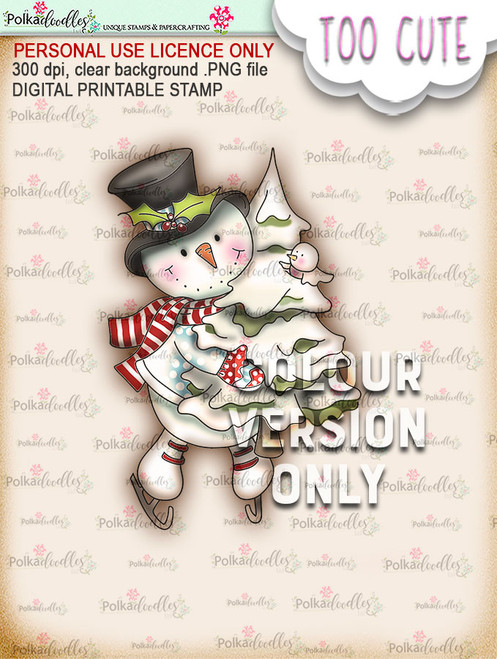Frosty Tree Haul PRECOLOURED - Too Cute digital papercrafting download