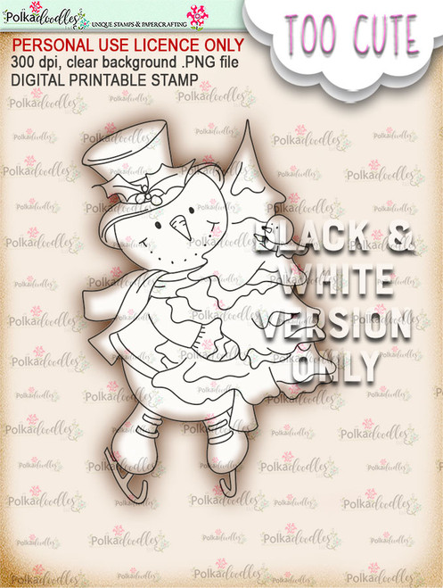 Frosty Tree Haul  - Too Cute digital papercrafting download