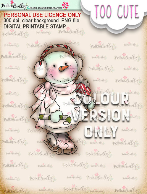 Frostella Shopping Haul PRECOLOURED - Too Cute digital papercrafting download
