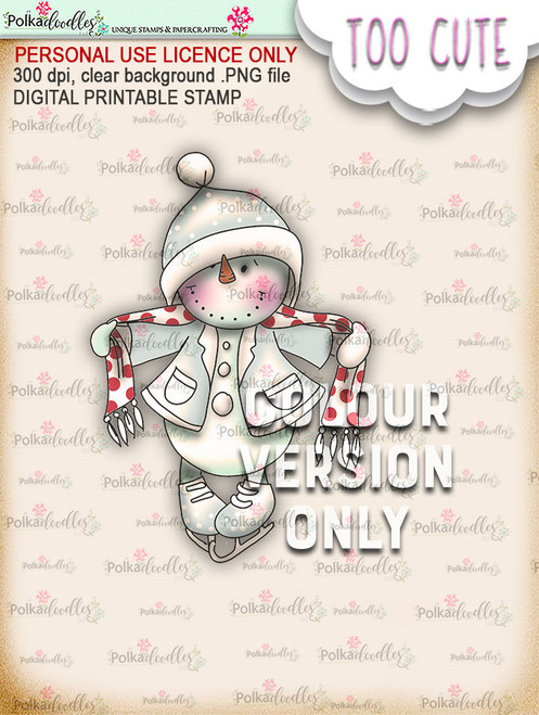 Frosty Wrap Up Warm PRECOLOURED - Too Cute digital papercrafting download