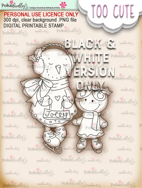 Frostella & Ginger - Too Cute digital papercrafting download