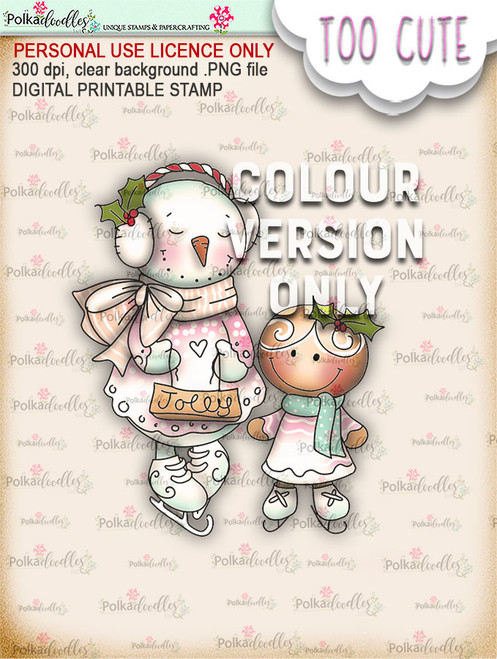 Frostella & Ginger PRECOLOURED - Too Cute digital papercrafting download