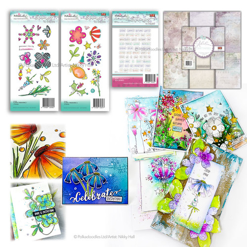 Floral Fireworks Collection - 73 stamps & 24 papers