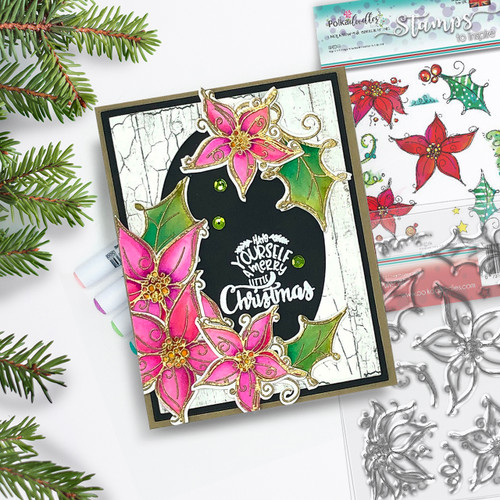 Perfect Poinsettias - 13 Clear Polymer stamps