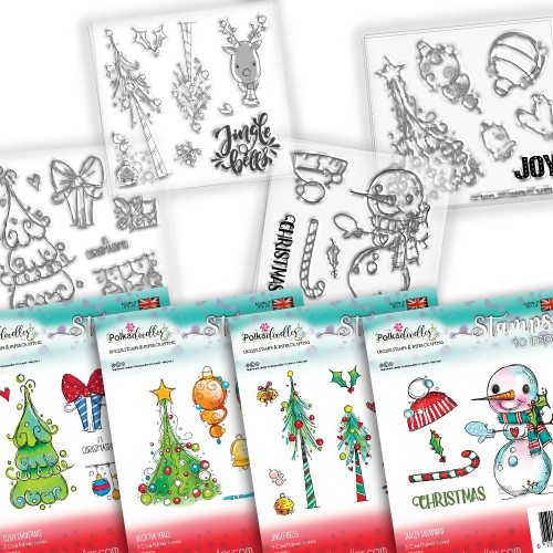 Jingle Bell Joy Christmas stamp collection - 28 Clear Polymer stamp set
