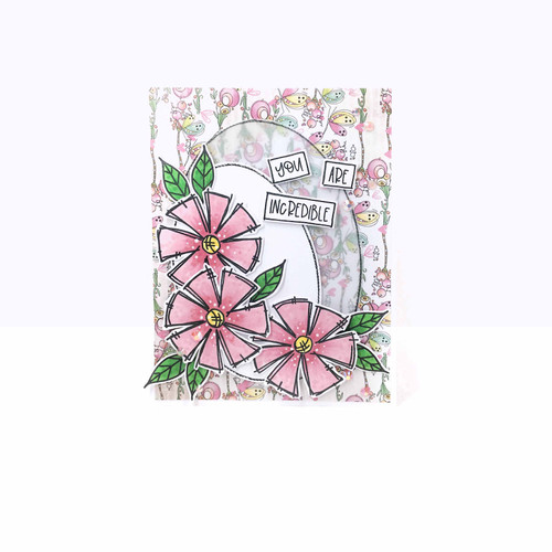 Adorable Florable stamp collection - Clear Polymer stamp set
