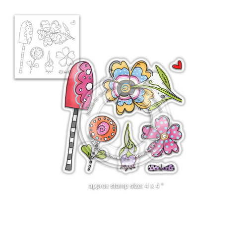Wild Garden stamp collection - Clear Polymer stamp set