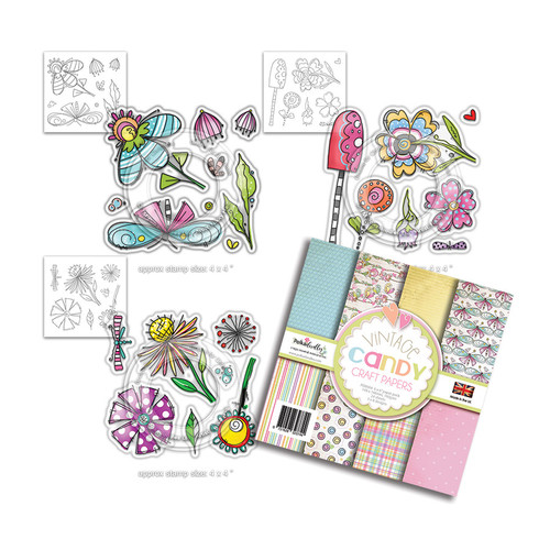 Vintage Candy Mix stamp & paper collection