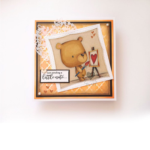 Too Cute Bear digital papercrafting download