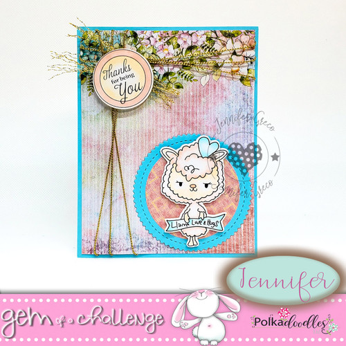 "Too Cute Llama Love ""precoloured"" digital papercrafting download"
