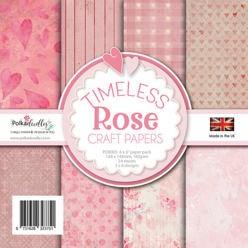 "Timeless Rose - 6 x 6"" Paper Pack"