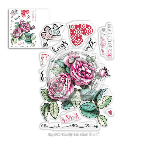 Love & Kisses stamp set - Timeless Rose Collection