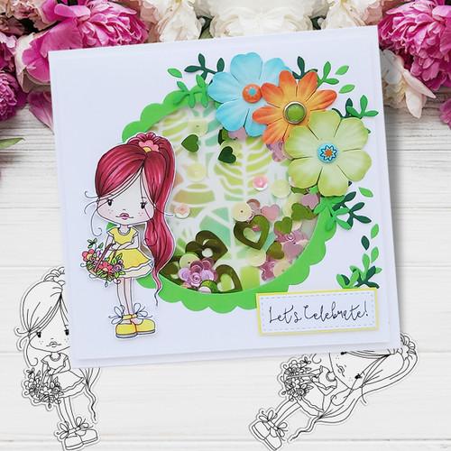 Holly flower basket- digital papercrafting download